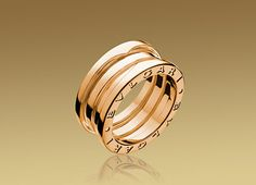 B.ZERO1 ring in 18kt pink gold.