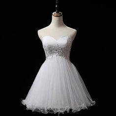 Tulle Homecoming Dress,Charming Homecoming Dress, Beaded Homecoming Dress,Cheap Homecoming Dress , Sweetheart Prom Dress