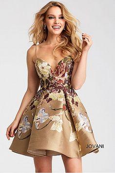 Multi Fit and Flare Spaghetti Straps Short Dress 54992