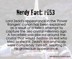 Nerdy Facts #153: Lord Zedd's appearance