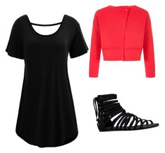 """Summer in black"" by dixielarouge on Polyvore featuring WithChic, Emporio Armani and JustFab"