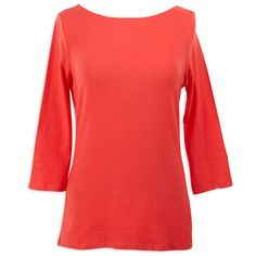 Ladies Coral Boatneck Top – Lolly Wolly Doodle