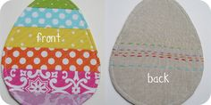 Spring-time Eggstravaganza: Stripey quilted Egg Mug Rug Tutorial.