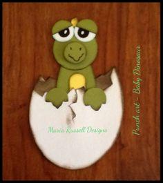 Baby Dinosaur Punch Art - Maria L Russell
