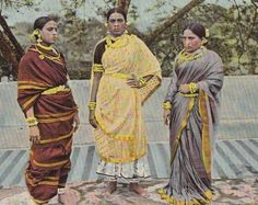 these ladies will end you (turn of 20th century tinted postcard)