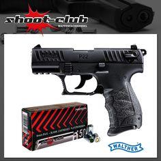 Walther P22Q Schreckschusspistole 9mm + Platzpatronen   #shootclub #Schreckschuss #pistol #ammunition
