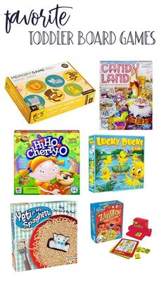 Favorite Toddler Board Games #toddlers #toddler #games