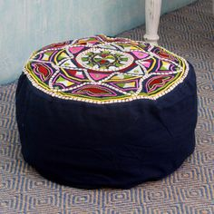 Handcrafted Cotton Rayon 'Rajasthan Galaxy' Ottoman Cover (India) - Overstock Shopping - Top Rated Novica Ottomans