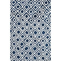 @Overstock - The Harlow Rug takes the edge off a series of vibrantly colored geometric rugs with its soft, microfiber construction. Machine woven in China, Harlow is the ideal selection for any home décor.http://www.overstock.com/Home-Garden/Microfiber-Woven-Harlow-Navy-Rug-36-x-56/7654718/product.html?CID=214117 CAD              119.05