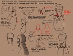 Tutorials: wanna draw something? part 1 - Imgur 91 helpful images for drawing. I picked this neck one for display because it's something I have trouble with.