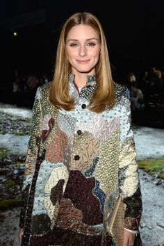 Olivia Palermo - Moncler Gamme Rouge Fall 2015 Front Row - March 11, 2015 #PFW