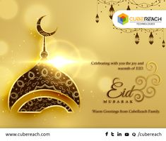 With warm greetings, CubeReach family wishing that this Eid, Allah blesses you with lots of happiness, success and peace. #EidMubarak #EidAlFitr #Ramadan2018 #CubeReach