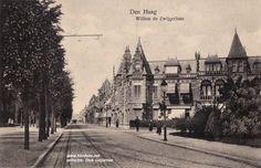 Willem de Zwijgerlaan met tramsporen van lijn 10 omstreeks 1920