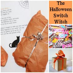 Don't tempt yourself with all that trick-or-treat candy that stays around your house forever after Halloween.  Switch the candy with a present from the Switch Witch.  It's a simply BRILLIANT idea! #halloween #candy #diet