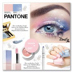 """""""Pantone Beauty: Rose Quartz and Serenity"""" by dressedbyrose ❤ liked on Polyvore featuring beauty"""