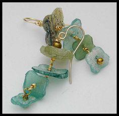 ANTIGUO vidrio romano un pedazo de por sandrawebsterjewelry