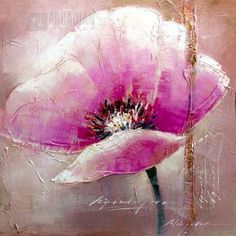 Yosemite Home Decor Perennial Hand Painted Contemporary Artwork - Perennial is a hand painted, botanical-themed artwork. The colors present in this piece are shades of pink, red, and white. The focal point of the painting is a pastel pink poppy. A bit of gold foiling is used on the painting as accent. This artwork will surely add color and beauty to any room. Completely hand-painted acrylic on canvas, signed by skilled artisans. #bebetsy #contest