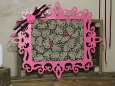 Decorative Framed Wall Decor Hello Kitty Pink & by ThrownTogether, $33.00
