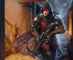 Humano, ladino guerreiro, especialista em besta, caçador de assassinos