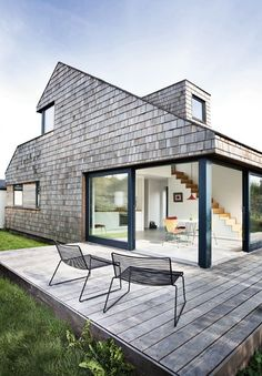 danish cabin #wood #patio