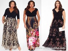 a329ae5cd09 Plus Size Black Tie Wedding Guest Maxi Dress Wedding Reception Outfit