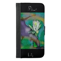 Lily Blossom Design IPhone Wallet Case