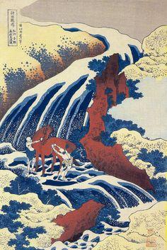 Katsushika Hokusai (1760 - 1849) - Yoshino Waterfalls