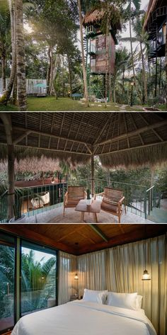 Lift is one-of-a-kind boutique hotel located in a suburb of Ubud in Bali, Indonesia. It comprises three off-the-ground vacation rentals. Bali Indonesia Hotels, Ubud Indonesia, Airbnb Rentals, Vacation Rentals, Treehouse Hotel, Thatched Roof, Metal Structure, Treehouses, Lodges