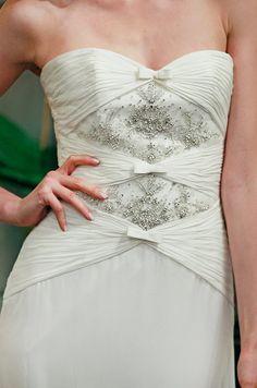 Beaded wedding dress from Badgley Mischka, Fall 2013