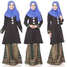 Baju Kurung Moden Kain Songket Fesyen Trend Terkini 2016   2017 d604f8dbb6