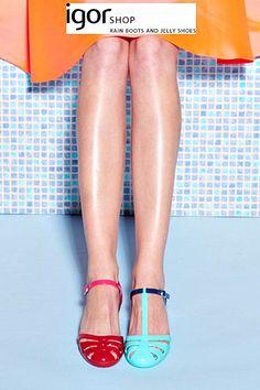 Jelly Shoes: cangrejeras y sandalias para este verano 2015 de Igor Shop