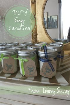 How To... Homemade Soy Candles | from Living Savvy