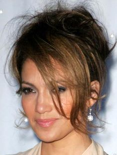 Here are several best Jennifer Lopez Hairstyles we have prepared available for you. Hurry to submit this gallery response. Your feedback are useful to us. Formal Hairstyles For Short Hair, Wedding Hairstyles, Cool Hairstyles, Short Hair Styles, Ladies Hairstyles, Curly Hair Updo, Messy Updo, Messy Bangs, Burnt Hair