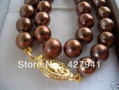 2014 Limited Special Offer Freeshipping Jewelry Necklace Beautiful Aaa++ Coffee 8mm Akoya Pearl Necklace 18 Inches Yl Classic