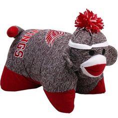 Detroit Red Wings Sock Monkey Pillow