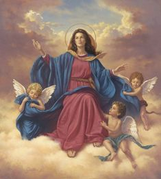 Blessed are the Pure of Heart Blessed Mother Mary, Blessed Virgin Mary, Catholic Art, Catholic Saints, St Pio Of Pietrelcina, Heaven Images, Hail Holy Queen, Assumption Of Mary, Images Of Mary