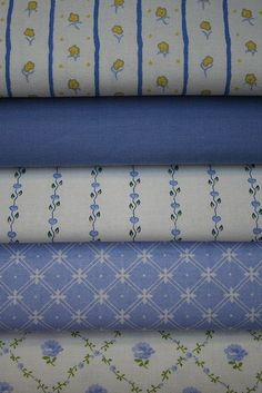 Vintage Laura Ashley Fabrics in Sapphire Blue! Blue And White Fabric, Blue Fabric, White Fabrics, Laura Ashley Fabric, Laura Ashley Clothing, Textiles, Shabby Chic Fabric, Fabulous Fabrics, Fabric Manipulation