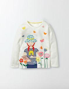 Fun Girl T-Shirt (Mini Ecru Butterfly)