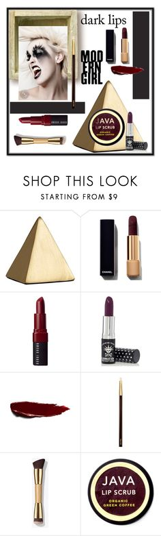 """Dark Lips"" by freida-adams ❤ liked on Polyvore featuring beauty, Bobbi Brown Cosmetics, Manic Panic NYC, Tom Ford and Java"