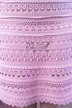 Первое связанное мной платье от Vanessa Montoro.  Вязала к торжеству. Все схемы с Осинки .  Оборочки разные.  Спереди ввязаны прозрачные...