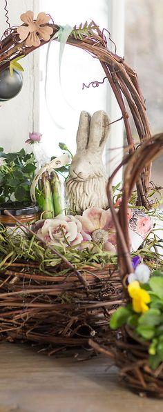 Rock Garden Bunny | Spring & Easter Decorating Tips