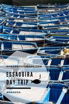 Learn how to spend a perfect day trip to Essaouira, Morocco. If you love history, fish, or Game of Thrones, you will love it here! And it's so easily accessible from Marrakech! Travel in Africa. Morocco Travel, Africa Travel, Marrakech Travel, Travel Europe, Travel Advice, Travel Guides, Travel Tips, Africa Destinations, Travel Destinations