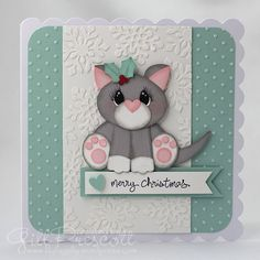 Punch art cat using Stampin' Up punches