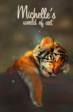 Tiger's Daydream by Michelle-Winer on DeviantArt Rare Animals, Art World, Pet Portraits, Daydream, Tigers, Art Drawings, Digital Art, Tiger Cubs, Wallpaper