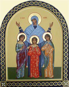 St. Sophia & her daughters Faith, Hope & Love by Liesbeth Smulders