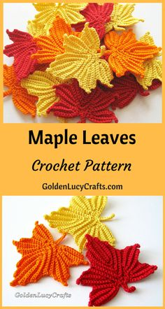 Crochet Leaf Irish Lace Motif Crochet Patterns