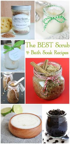 BEST Sugar Scrubs and Bath Soaks - These make fantastic gifts and are so easy to make!