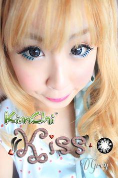 kimchi-kiss-grey Grey Contacts, Kimchi, Kiss, Kisses, A Kiss