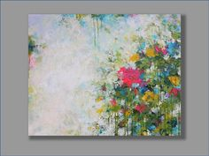 The Beauty of my Garden Original Acrylic Painting Art by mgotovac