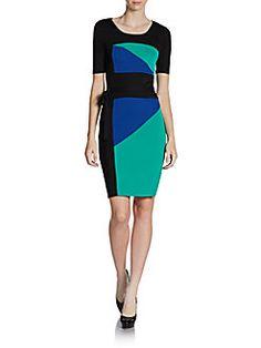 BCBGMAXAZRIA - Colorblock Sheath Dress